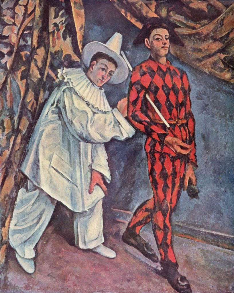 Pierrot and Harlequin, de Paul Cézanne (1888)